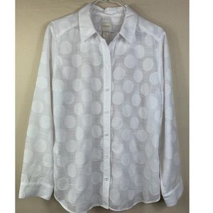 💫Chico's / Polka Dot Shirt.